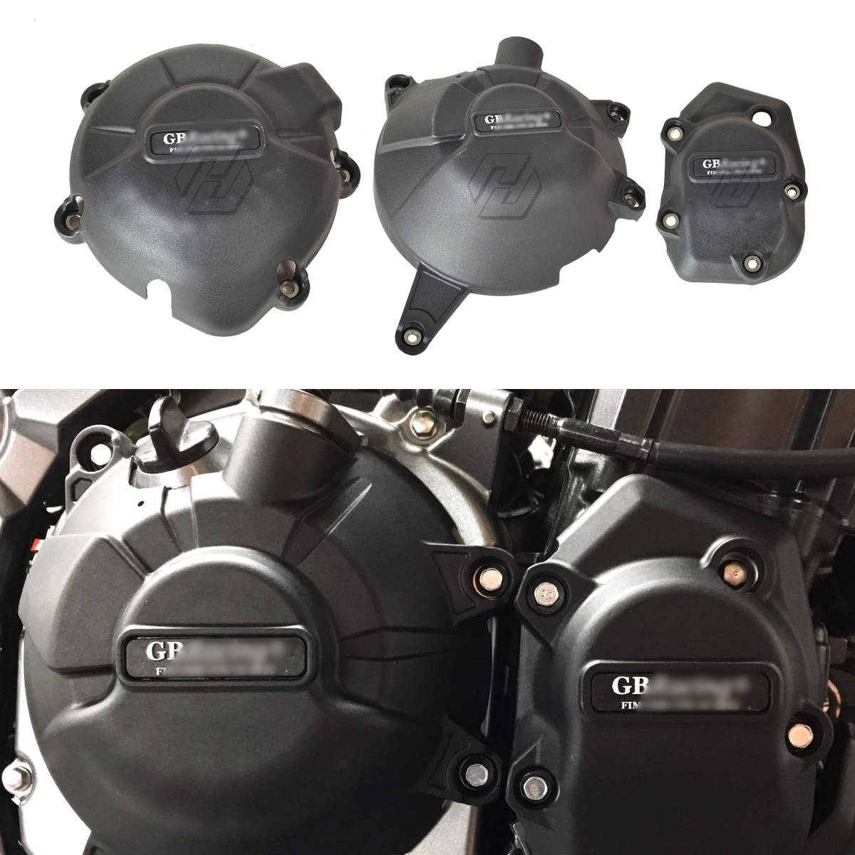 Image 2 - Motorcycle Engine Protection Water Pump Cover Kit Case for GB Racing for Kawasaki NINJA Z900 2017 2018 2019-in Covers & Ornamental Mouldings from Automobiles & Motorcycles