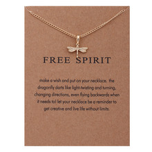 Animal Free Spirit Dragonfly Necklaces Pendant Women Jewelry Best Gifts