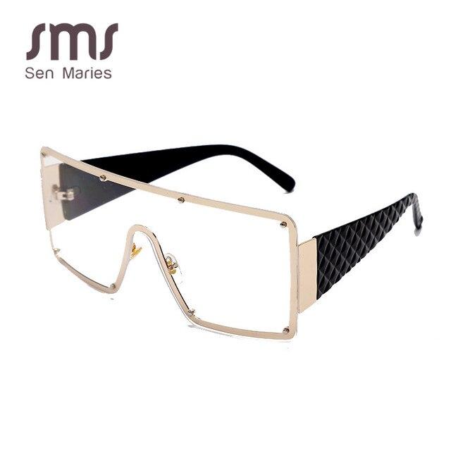 2020 New Square Sunglasses Women Fashion Oversized Metal Frame Vintage Glasses Men Shades Retro Gradient Colors Oculos UV400 6