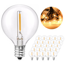 25PCS G40 1W LED String Lights Replacement Bulb E12 220V 110V Warm White 2700K LED Lamps Replace G40 5W 7W Incandescent Bulbs(China)
