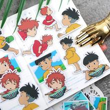 Howl Ponyo-Sticker Skateboard Anime Laptop for Suitcase Works 24sheets/Pack