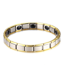Magnetic Hematite Copper Bracelet Mens Health Bracelets Buckle Clasp Therapy Man Bangles Care Jewelry Gold Silver Plated