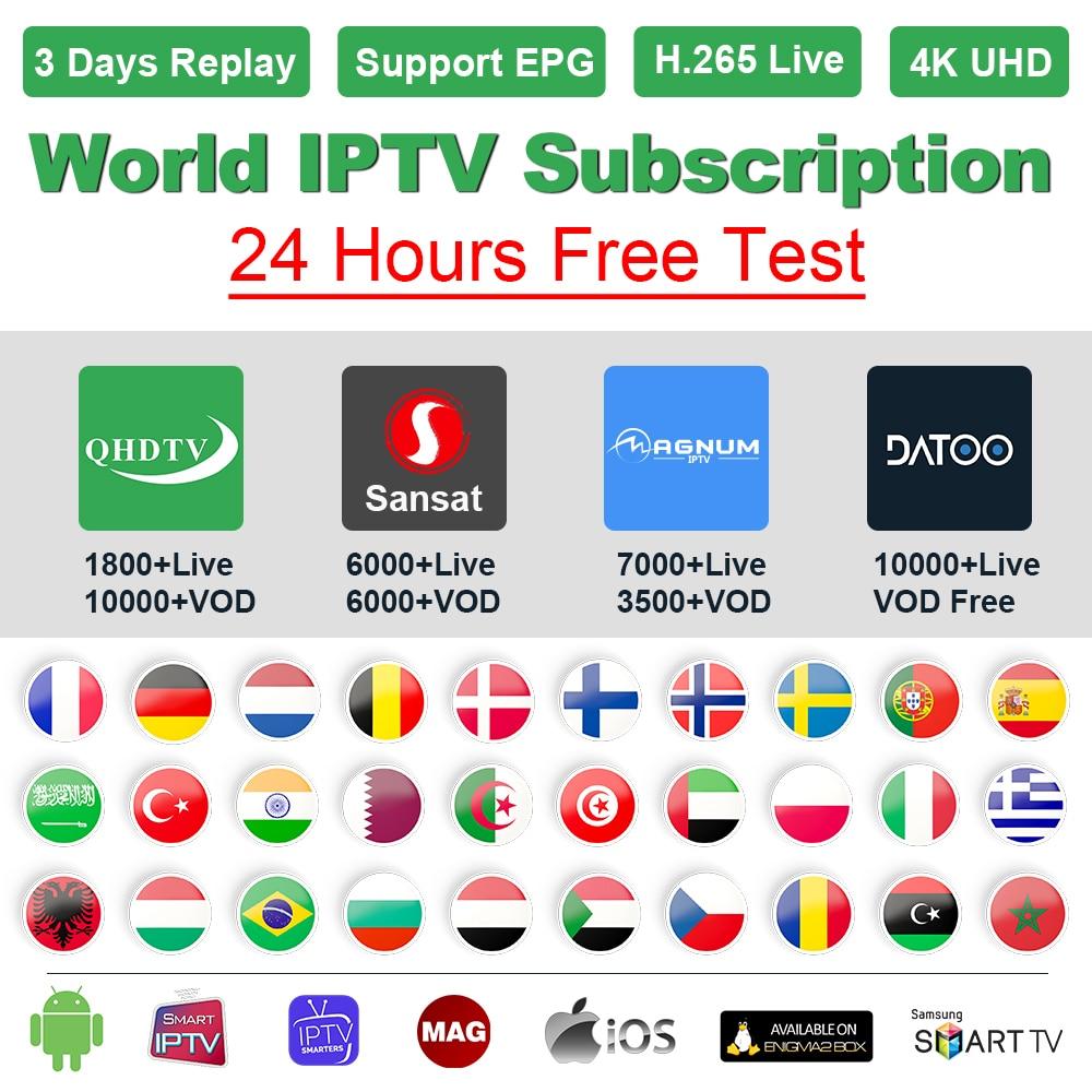 IPTV France Arabic QHDTV/Sansat/Datoo IPTV M3U Subscription IPTV France Germany Portugal Spain Sweden Greek Belgium Dutch IP TV