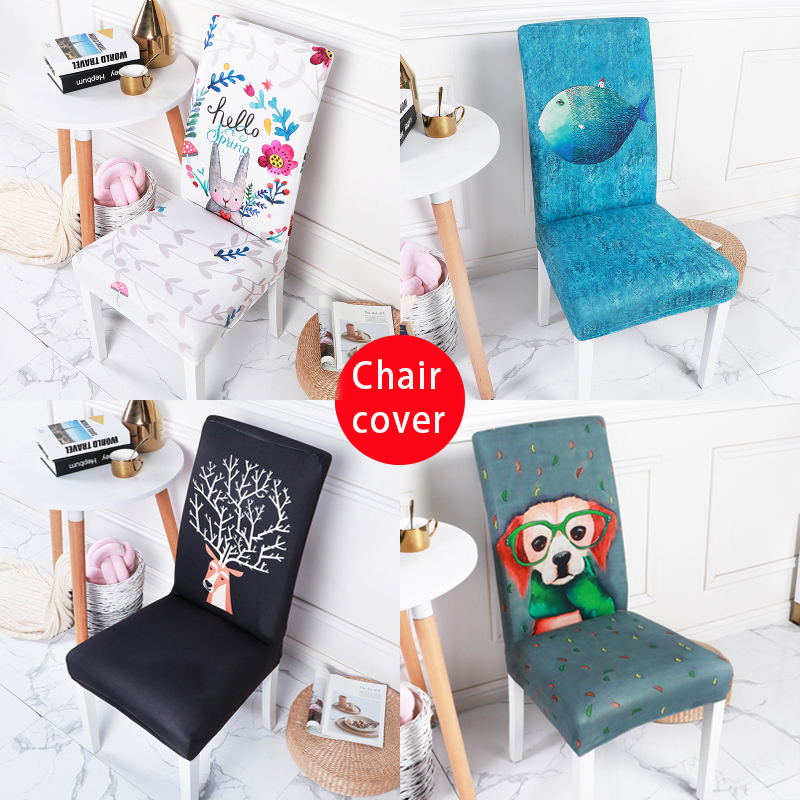 Chair Cover Stretch Dining Table And Chair Cover Spandex Chair Cover Fashion Home Decoration Chair Cover Universal Cover Chair