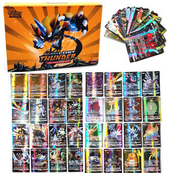 цена на 200Pcs GX Pokemon trading Card  Sun & Moon Collection Booster Box Collectible Trading Card Kids Toy English version Toy