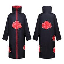 Anime Naruto Cloak Akatsuki Cosplay Costumes Ninjia Uchiha Itachi Red Cloud Trench Robe Child Adult Long Gown