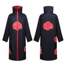 Anime Naruto pelerin Akatsuki Cosplay kostümleri ninja Uchiha Itachi kırmızı bulut siper elbise çocuk yetişkin uzun elbisesi