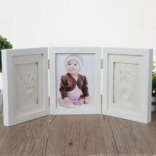 Рамка для фото новорожденных, детские формы, ручная печать, отпечаток ноги, 3D, сделай сам, мягкая глина, Inkpad, детские изысканные сувениры, лит...