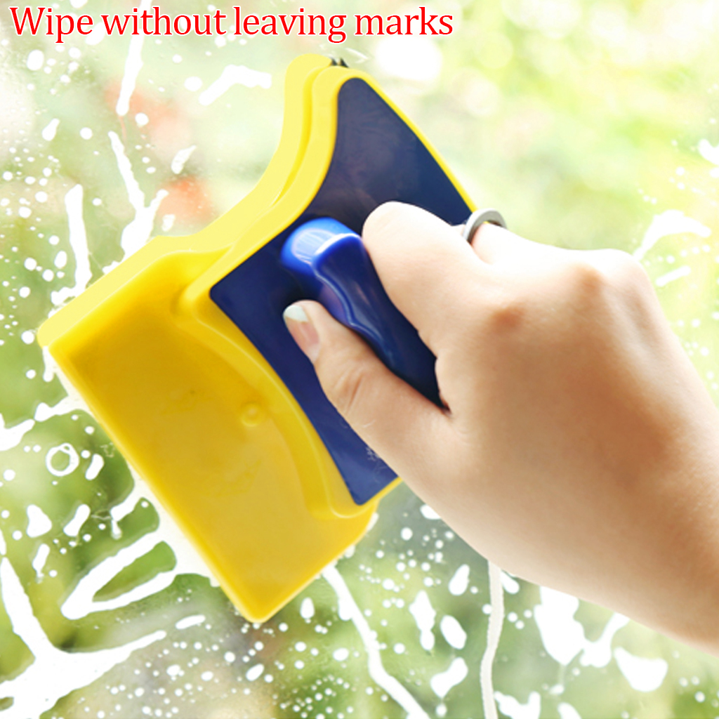 2019 Hot Sale Magnetic Window Cleaner Glass Brush Tool Double Side Glass Wiper Algae Scraper Brush Pad Household Cleaning Tools