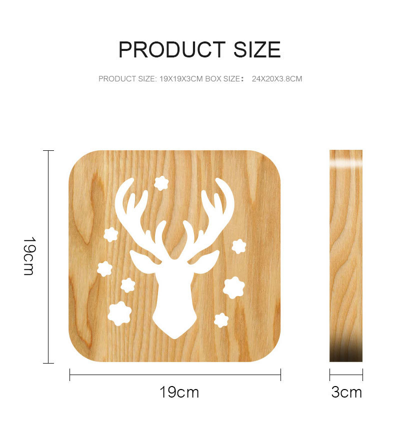 Christmas Deer LED Light Desk Lamp Creative Hollow Wood Carving Animal Table Lamp For Kids Bedroom Home Living Room Decoration (3)