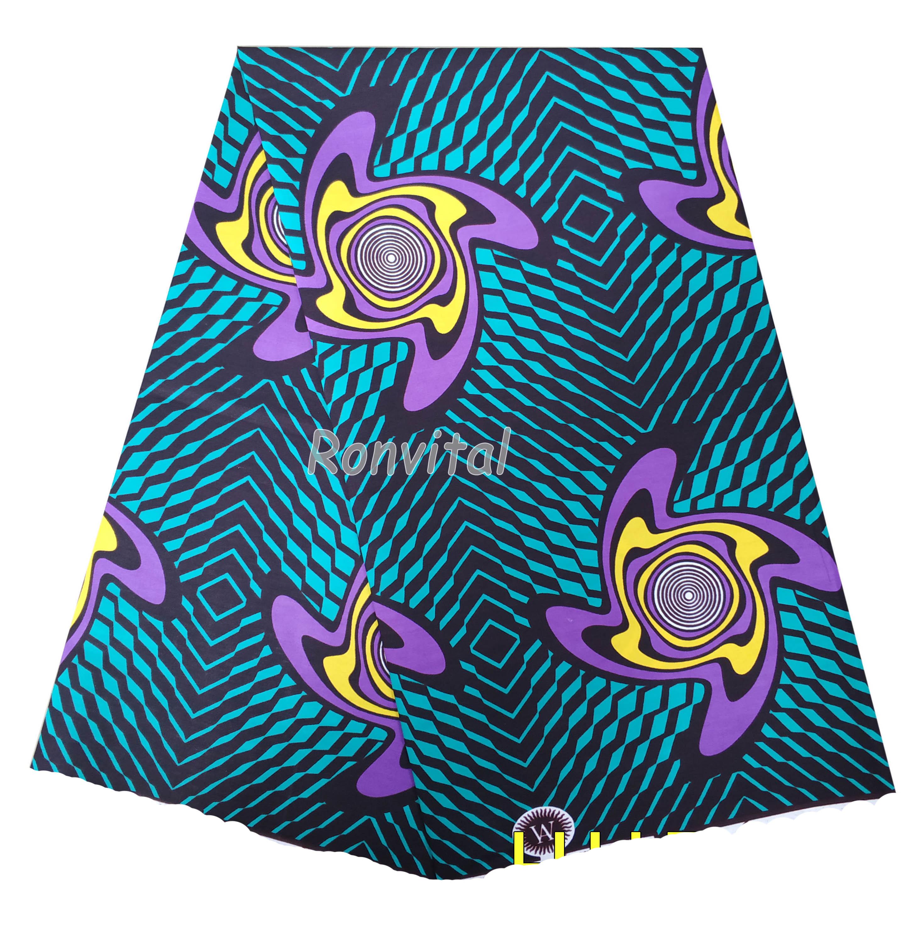 African Wax Print Fabric 100% Cotton Material Ankara Fabric 6yards/pcs For African Women Dresses