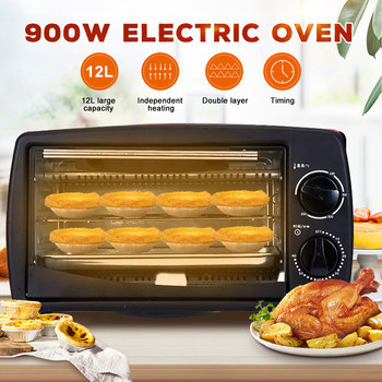 Mini Oven 900W 220V Multifunctional Household Electric Oven Intelligent Timing Kitchen Baking Toaster Grilled Chicken Wings