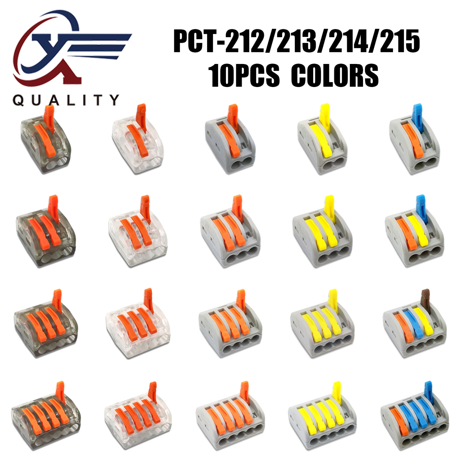 10PCS Electrical Wiring Terminals Cage Spring Universal Fast Terminal Household Connectors For Connection