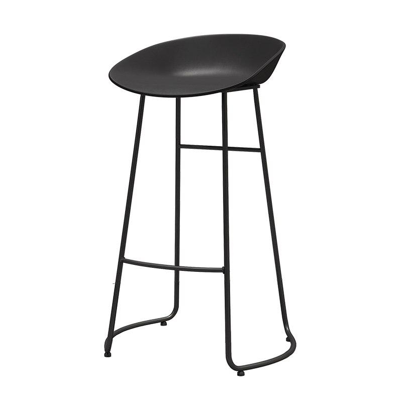 Light Luxury Nordic Simple Bar, Iron  Chair, Stool, Leisure Coffee Shop, Front Desk, High  Designer's Bar Stool