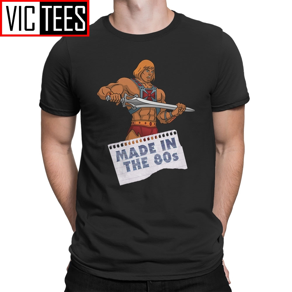 Men's Masters Of The Universe He-Man Made In The 80s Tee Shirts T-Shirts 100% Cotton T Shirts Mens
