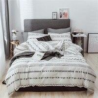 100% cotton Queen King comforter bedding set bed cover nordic duvet cover set Bedclothes Quilt Cover Pillowcase Home Textile