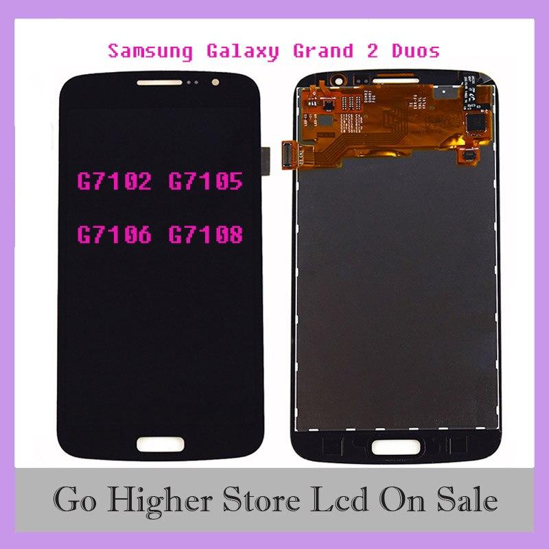 TFT для Samsung Galaxy Grand 2 Duos G7102 LCD G7105 G7106 G7108 ЖК-дигитайзер сенсорный экран сенсор ЖК-дисплей Панель в сборе
