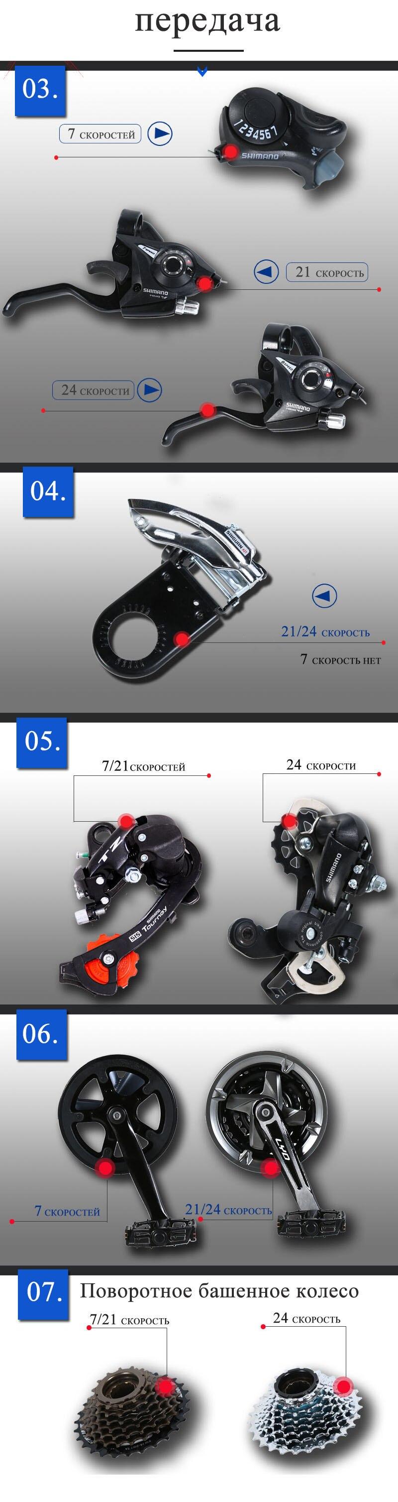 "Ha5fe33e5b7e54228b6f75058f07b17d0y wolf's fang Mountain bike bicycle aluminum frame 7/21/24 speed mechanical brakes 26 ""x 4.0 wheels long fork Fat Bikes road bike"