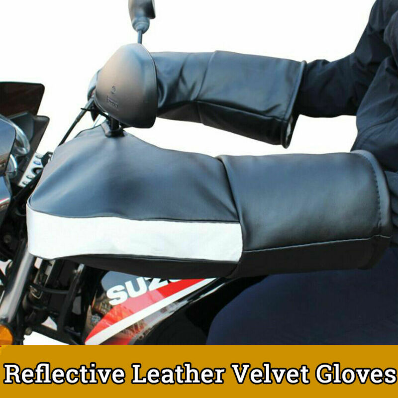Winter Motorcycle Add Wool Gloves Handlebar Gloves Thicken Warm Motorbike Scooter Handlebar Grip Muffs Waterproof Windproof