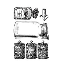 Стеклянная бутылка прозрачные штампы для «сделай сам» Скрапбукинг