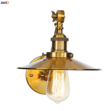 IWHD Adjustable Single Arm Wall Light Fixtures 4W Edison Bulb Indoor Gold Metal Loft Decor Vintage Industrial Wall Lamp Sconce vintage loft style industrial vintage wall light fixtures home clocks watches water pipe lamp edison wall sconce indoor lighting