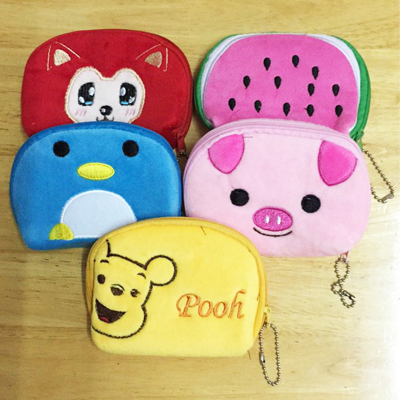 Drop Shipping Multi Cartoon Style Coin Pungar Plånbok BAG Pouch BAG Pendant PAG Coin Pendant Coin Bag