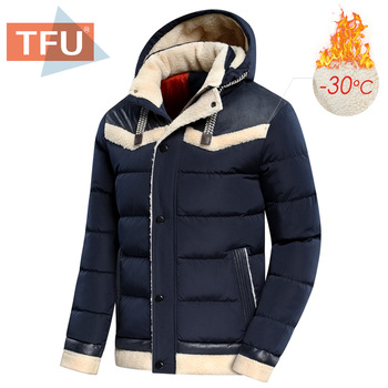 TFU Men 2020 Winter Autumn New Thick Warm Fleece Hooded Parkas Jacket Coat Men Outwear Style Casual Waterproof Parka Jackets Men