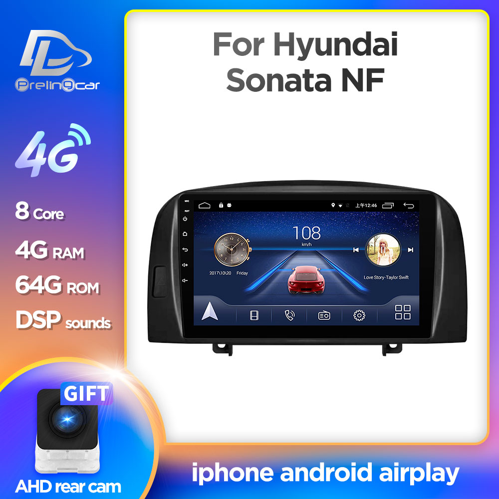 Android 9.0 System Car IPS Touch Screen Stereo For HYUNDAI SONATA NF player Stereo
