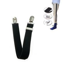 1pc elastyczny jednolity styl biznesowy podwiązki koszula podwiązki koszula męska pozostaje uchwyt wojskowy proste szelki szelki tanie tanio Poliester Dla dorosłych Stałe Moda Accessories 60cm