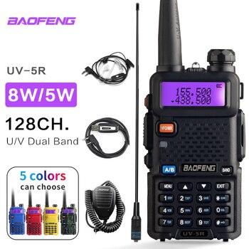 BaoFeng UV 5R Walkie Talkie Radio Station Comunicador UV-5R HAM Transceiver 128CH Dual-Band Intercom Handheld Talkie Walkie UV5R