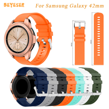 20mm Silicone band For Samsung Galaxy 42mm watch strap replacement For Samsung Gear S2/Gear Sport Smart watch wristband bracelet цены онлайн