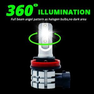 Image 2 - VANSSI 2Pcs H8 H11 LED ערפל נורות H16 H10 9145 HB3 9005 HB4 9006 LED ערפל מנורת סופר בהיר 4000lm CSP שבבים, לבן 6000K