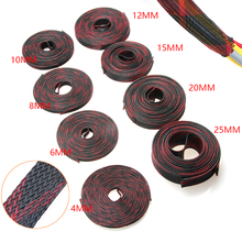 5/10 м 2/4/6/8/10/12/15/20/25 мм; изоляционный кабель в оплетке, с длинными рукавами, плотный PET, расширяемые кабель рукава проводки с Кабели 9 размеров
