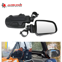 Alconstar 2 PCS Adjustable Universal UTV/ATV Rearview Mirror Large Field Mirror with 1.75 Clamp Fit All Terrain Mountain Bikes