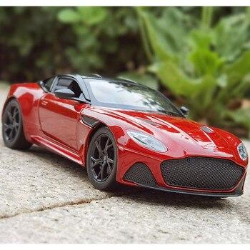 WELLY 1:24 skala Aston Martin DBS Superleggera Toy model odlewu wycofać kolekcja samochodów dla dzieci prezent darmowa wysyłka недорого