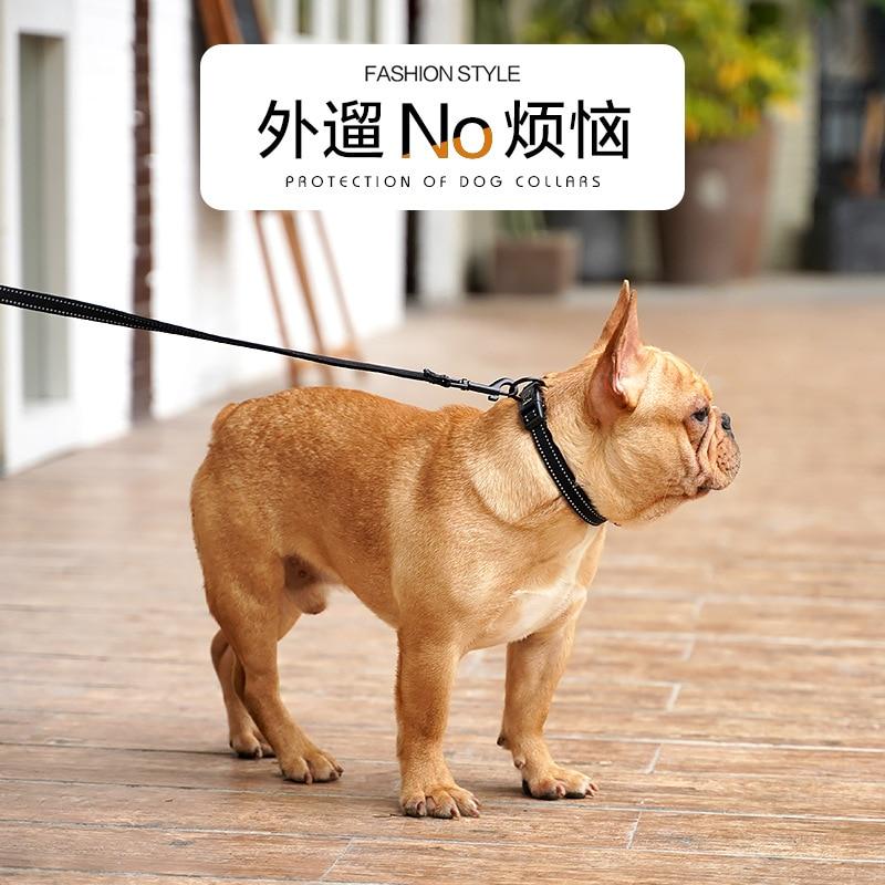Comfortable Diving Cloth Lining Dog Collar Small Dogs Anti-Strangler Circle Large Dogs Medium Golden Retriever Pet Supplies