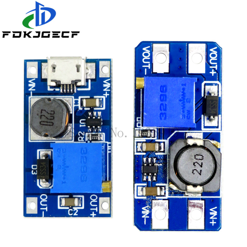 10pcs MT3608 DC-DC Step Up Converter Booster Power Supply Module Boost Step-up Board MAX output 28V 2A for arduino
