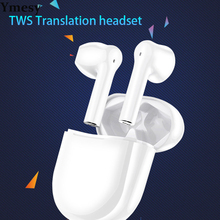 Ymesy Bluetooth Translation Headset Portable Smart Multi-language Translator Real-time Business Mutual Translation Headset
