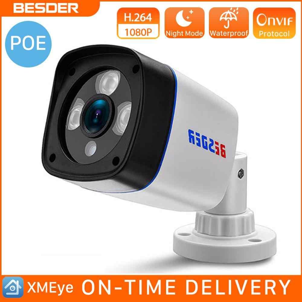 BESDER aparat Ip HD 720P 960P 1080P DC 12V POE 48V wideo na zewnątrz kamery monitoringu CCTV Secutiry kamera wbudowany moduł Poe Onvif