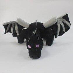 60cm original minecraft ender dragão de pelúcia macio preto minecrafts pelúcia enderdragon pp algodão dragão brinquedos presente para crianças