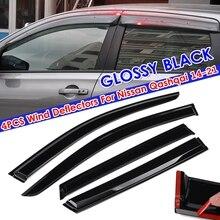 Car Side Window Deflectors Wind Sun Rain Visor Deflectors Tinted  Windows Shield For Nissan Qashqai 2014 2015 2016 2017-2021