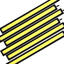 6x17 см супер яркий Автомобильный светодиодный противотуманный фонарь COB Стайлинг DRL Дневной ходовой светильник 12 В Авто интерьерная лампа для мотоцикла Стайлинг атмосфера