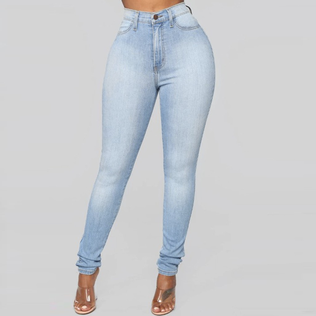 Plus Size Women's Skinny Hole Ripped Jeans New Fashion Women Pants Boyfriend Denim Biker Jeans Female Pencil Pants Softener#J30