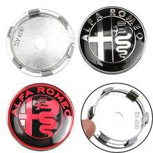 4 шт. 60 мм с 56 мм для Alfa Romeo Автомобильная Ступица колеса Колпачок значок наклейка колеса пыленепроницаемые Чехлы наклейка автомобиля Стайлинг Аксессуары