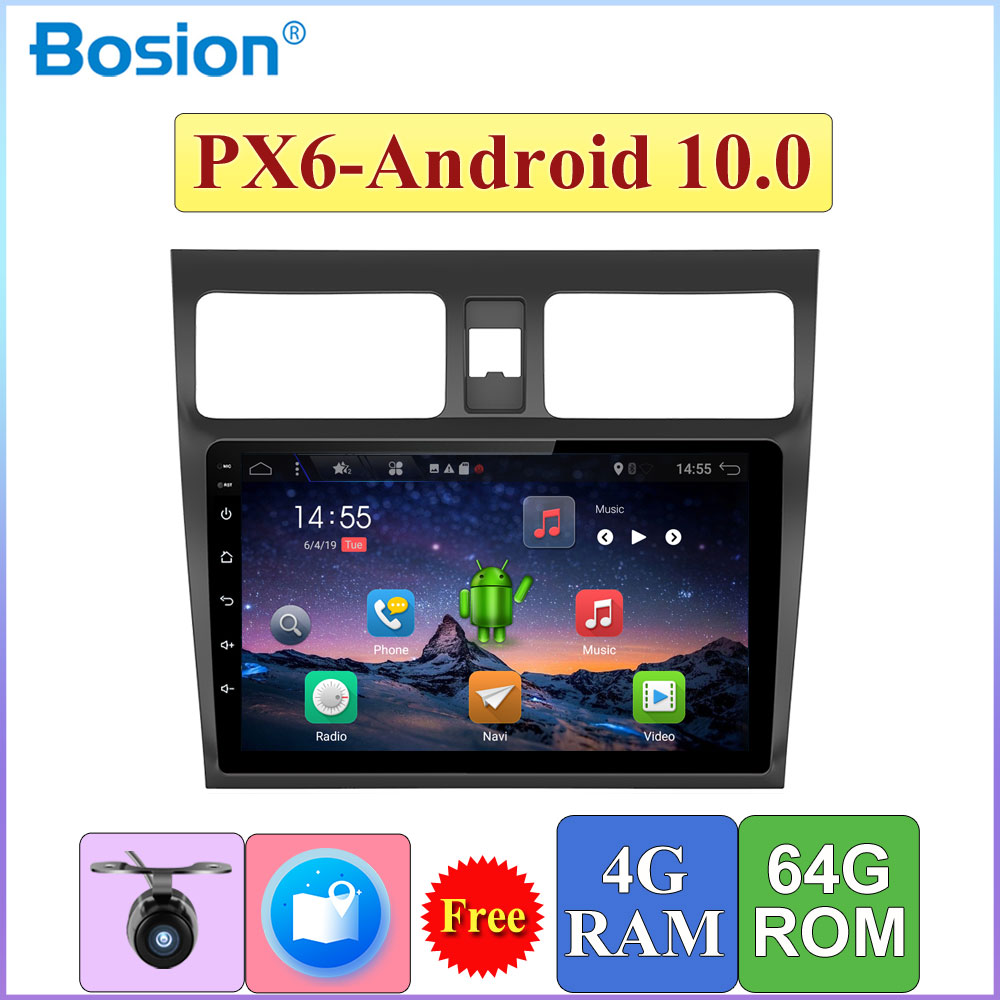 <font><b>Android</b></font> 10 Car Multimedia Player GPS Navigation 1DIN Autoradio WiFi USB RDS ForSuzuki <font><b>Swift</b></font> 2005-2018 Car Audio Radio Stereo image