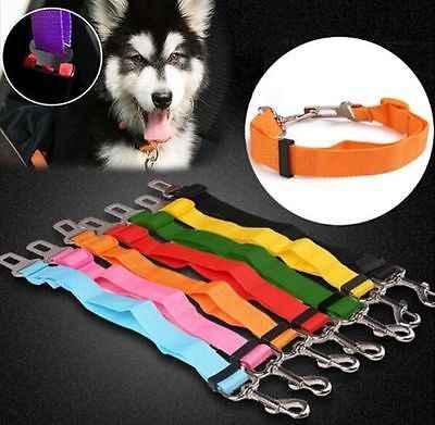 ランダムな色調整可能なペット犬ハーネスシートベルトリード拘束ストラップ車の安全旅行首輪