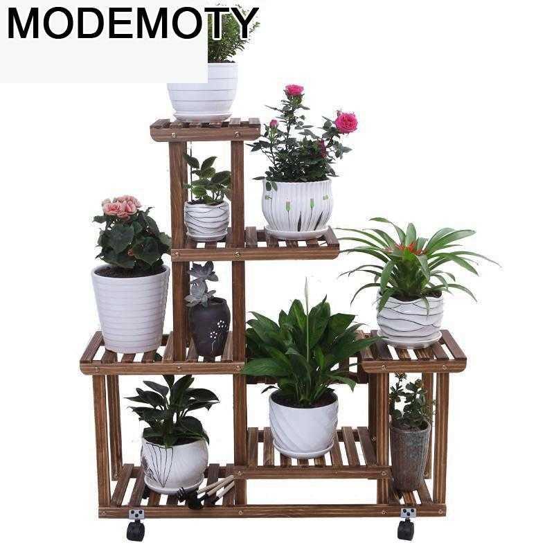 Madera Plantenrekken Etagere Pour Plante Escalera Estanteria Para Macetas Stojak Na Kwiaty Plant Rack Outdoor Shelf Flower Stand