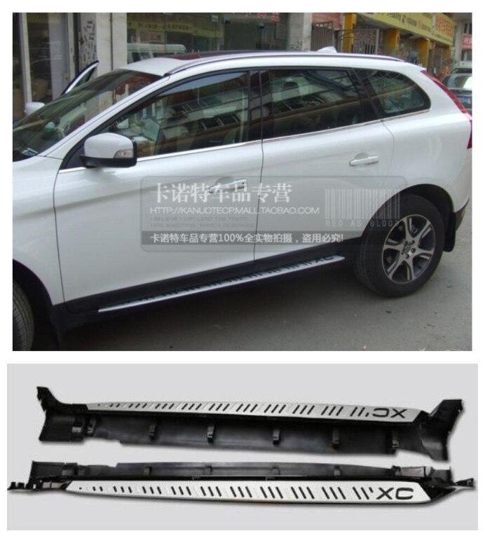 Pédales latérales de haute qualité de marchepied d'alliage d'aluminium de voiture convient pour Volvo XC60 2009.2010.2011.2012.2013