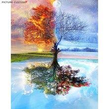 Картина маслом «сделай сам» дерево пейзаж картины по номерам
