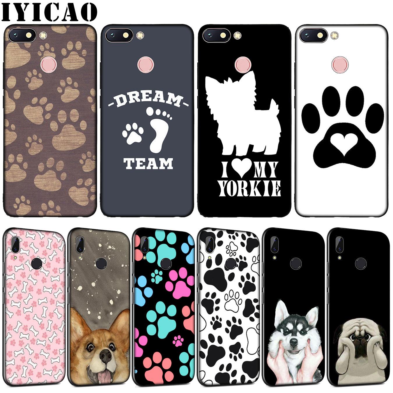 Dog Footprint Paw Cat Soft TPU Silicone Phone Case For Xiaomi Redmi Note 8 8A 8T 7 7A 6 6A 5 5A GO S2 K30 K20 Pro